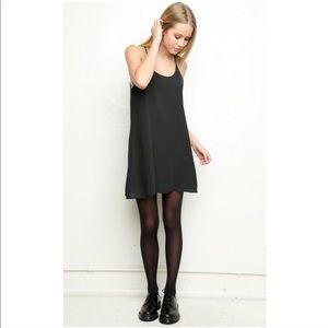 Brandy Melville Black Sheer Belle Slip Dress Sz OS